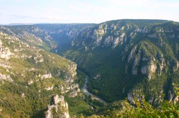 View of Gorges du Tarn from Point-Sublime